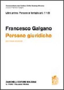 Tegliowinterrun.it Commetario al Codice civile. Persone giuridiche (artt. 11-35 del Cod. Civ.) Image
