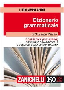 Steamcon.it Così si dice (e si scrive). Dizionario grammaticale e degli usi della lingua italiana Image