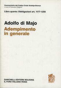 Foto Cover di Commentario del codice civile. Adempimento in generale. Art. 1177-1200, Libro di Adolfo Di Majo, edito da Zanichelli