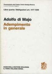Commentario del codice civile. Adempimento in generale. Art. 1177-1200