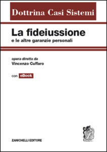 La fidejussione e le altre garanzie personali - Vincenzo Cuffaro - copertina
