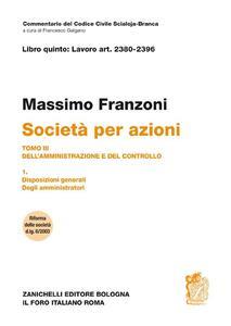 Società per azioni - Massimo Franzoni - copertina