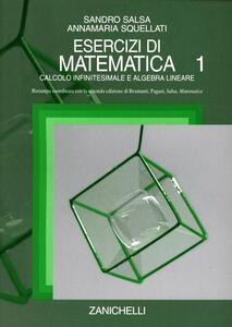 Esercizi di matematica. Vol. 1: Calcolo infinitesimale e algebra lineare. - Sandro Salsa,Annamaria Squellati Marinoni - copertina