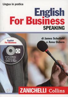 Radiospeed.it English for business. Speaking. Con CD Audio formato MP3 Image