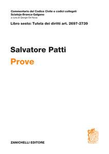 Foto Cover di Art. 2697-2739. Prove, Libro di Salvatore Patti, edito da Zanichelli
