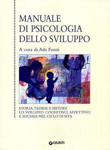 Libro Manuale di psicologia dello sviluppo