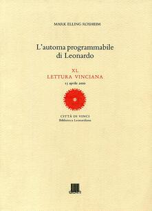 Radiospeed.it L' automa programmabile di Leonardo Image