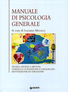 Nicocaradonna.it Manuale di psicologia generale Image
