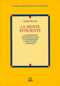 La mente efficiente - Guido Petter - copertina