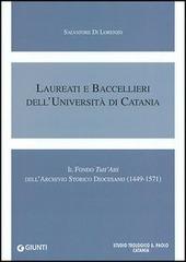 Laureati e baccellieri dell'Università di Catania. Il Fondo «Tutt'Atti» dell'Archivio storico diocesano (1449-1571)
