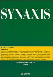Quaderni di Synaxis. Vol. 24\1 - copertina