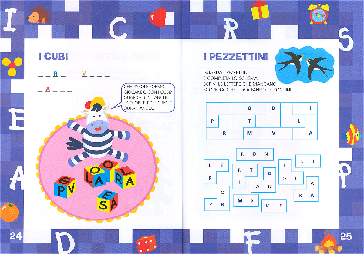 Enigmistica facile le lettere belardinelli bianca for Cucinare per bambini 7 anni