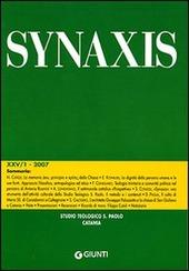Quaderni di Synaxis. Vol. 25/1