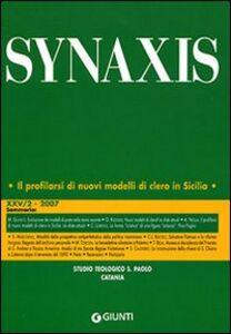 Foto Cover di Quaderni di Synaxis. Vol. 25\2, Libro di  edito da Giunti Editore