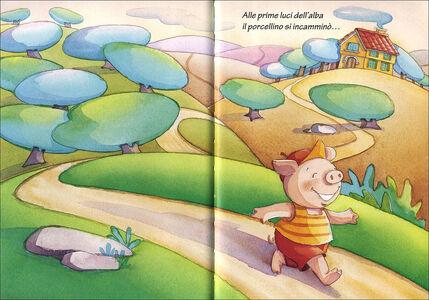 Foto Cover di I tre porcellini, Libro di Jacob Grimm,Wilhelm Grimm, edito da Giunti Kids 1