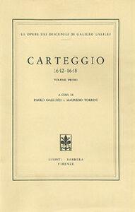 Libro Carteggio 1642-1648 Galileo Galilei