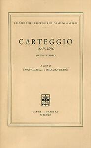 Libro Carteggio 1649-1656 Galileo Galilei