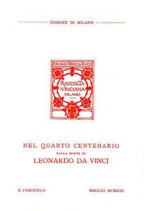Raccolta Vinciana (1919). Vol. 10 - copertina