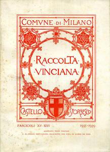 Raccolta Vinciana (1935-1939) voll. 15-16 - copertina