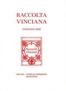 Raccolta Vinciana (1990). Vol. 23 - copertina