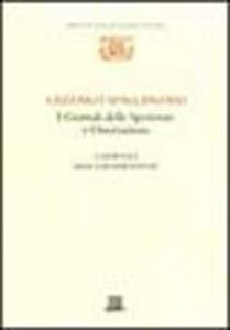 Libro I giornali delle sperienze e osservazioni: i giornali della respirazione Lazzaro Spallanzani