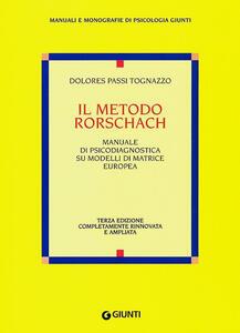 Il metodo Rorschach - Dolores Passi Tognazzo - copertina