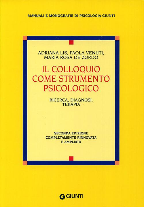 Image of Il colloquio come strumento psicologico