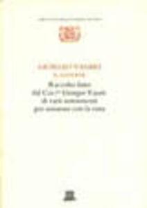 Foto Cover di Raccolto fatto dal cav. Giorgio Vasari di varii instrumenti per misurare con la vista, Libro di Giorgio Vasari, edito da Giunti Editore
