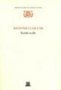 Libro Scritti scelti Antonio Cocchi