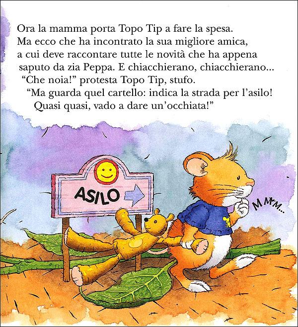 Topo tip non vuole andare all 39 asilo casalis anna libro for Topo tip giocattoli