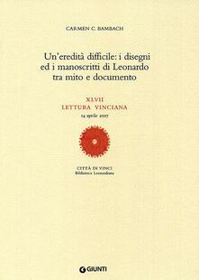 Associazionelabirinto.it Un' eredità difficile: i disegni ed i manoscritti di Leonardo tra mito e documento. XLVII lettura vinciana Image