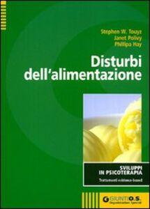 Foto Cover di Disturbi dell'alimentazione, Libro di AA.VV edito da Giunti Organizzazioni Speciali