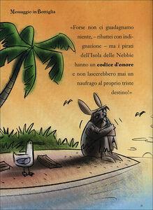Libro Messaggio in bottiglia. Capitan Fox. Con adesivi Marco Innocenti , Simone Frasca 1