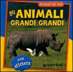 Foto Cover di Gli animali grandi grandi. Con adesivi, Libro di Simona Gabbanini, edito da Giunti Kids