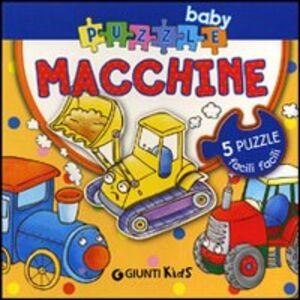 Libro Macchine. Con 5 puzzle Silvia D'Achille , Anna Pilotto 0