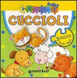 Foto Cover di Cuccioli. Con 5 puzzle, Libro di Silvia D'Achille,Anna Pilotto, edito da Giunti Kids 0
