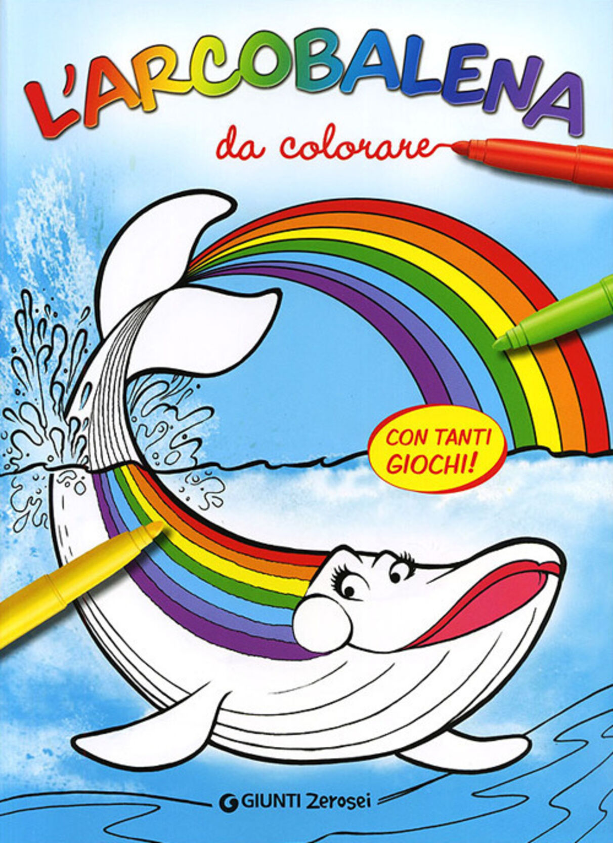 L' arcobalena da colorare