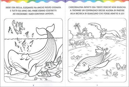 Libro L' arcobalena da colorare Massimo Sardi 1