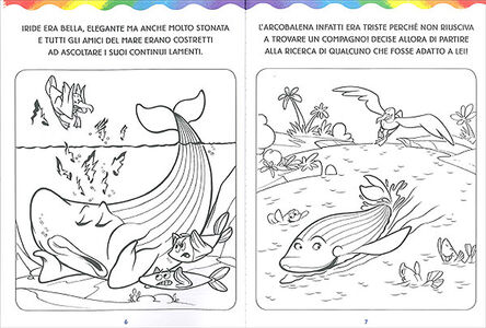 Libro L' arcobalena da colorare Massimo Sardi 3