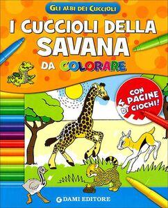Libro I cuccioli della savana da colorare  0