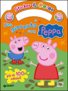 Una giornata con Peppa. Sticker e color. Con adesivi - Cristina Panzeri - copertina