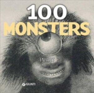 Foto Cover di 100 monsters in art, Libro di  edito da Giunti Editore