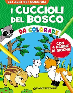 Libro I cuccioli del bosco da colorare