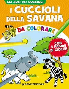 Libro I cuccioli della savana da colorare