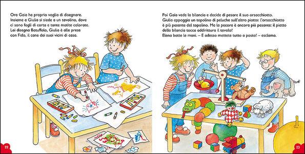 Libro Gaia va all'asilo. Con pagine di giochi e attività Liane Schneider 2