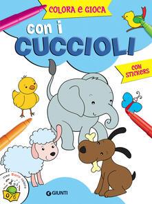 Squillogame.it Colora e gioca con i cuccioli. Con adesivi Image