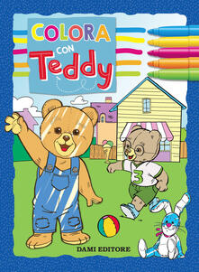 Festivalshakespeare.it Colora con Teddy. Con adesivi. Ediz. a colori Image
