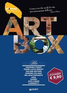 Libro Dossier d'art. Box blu: Gauguin a Tahiti-Frank Lloyd Wright-Van der Weyden-Disegno italiano nel Quattrocento-Lega-Guardi-Arte cinese-I Lorenzetti. Ediz. illustrata