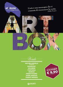 Libro Dossier d'art. Box verde: Michelangelo. Il David-Basquiat-Holbein-Fontana-Signac-Primitivismo-Ghirlandaio-Tardo impero