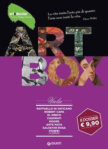 Libro Dossier d'art. Box viola: Raffaello in Vaticano-Robert Capa-El Greco-Casorati-Moore-Arte maya-Salvator Rosa-Pompei. La pittura. Ediz. illustrata